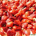 Une tarte aux fraises bien apétissante...