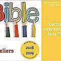 Lectures existentielles de la bible