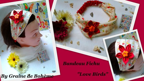 Bandeau + - 8 ans et adulte Love Birds