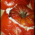 P'tites tomates farcies au fromage