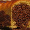 Gâteau marbré au café
