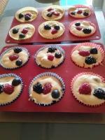 Muffins super moelleux aux fruits rouges 049
