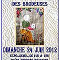 2ème RENCONTRE REGIONALE DES BRODEUSES JUIN 2012