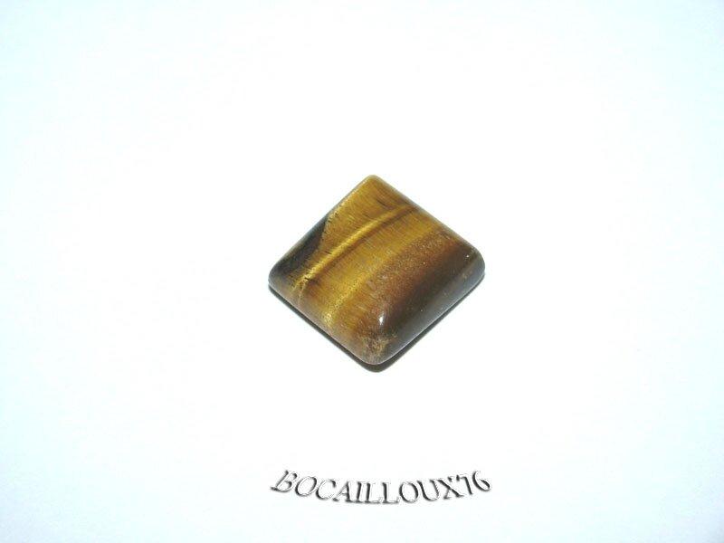CABOCHON 14x13.5x6.5 OEIL de Tigre 30 Rect.