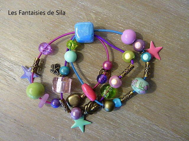 Trio multicolore (personnalisable) 30 euros