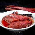 Rhubarbe confite au four