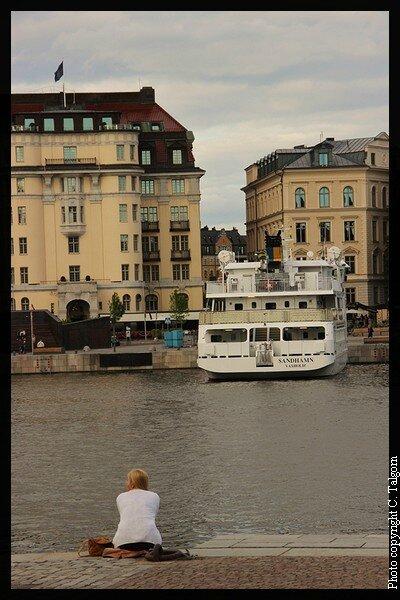 Stockholm : sur le quai