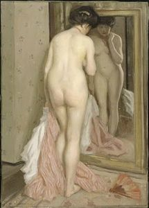 Frieseke Frederik Carl (1874-1939, Devant la glace, Musée national d'Art moderne- Georges Pompidou