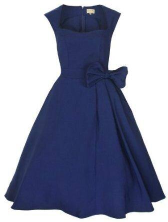idée-tenue-invitée-mariage-bleu-rétro