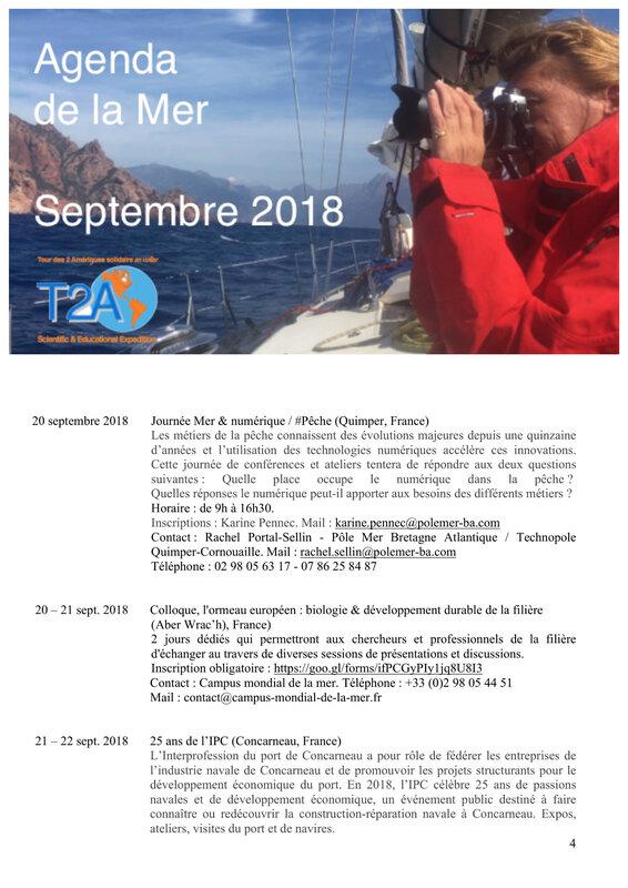Agenda de la mer septembre 2018 page 4:5