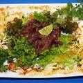 Tagliatelles de thon rouge au pistou
