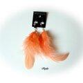 Bo106 (2013) Bo105 (2013) boucles d'oreilles plumes orange