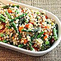 Couscous marocain aux asperges et aux poivrons rouges