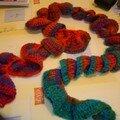 écharpe nouille multicolor