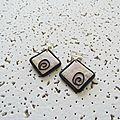 BO carrées marbré rose 3 €