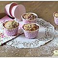Muffin chocolat blanc-framboises