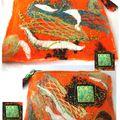 pochette feutrée orangée