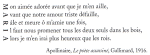 Apollianire, Le poète assassiné, 1916