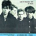 Echo and the bunnymen - lundi 30 novembre 1987 - le grand rex (paris)
