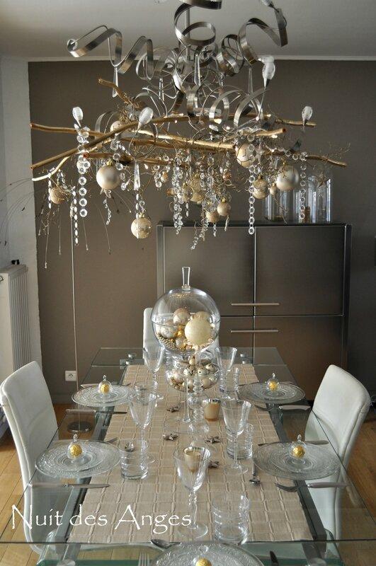 Nuit des anges décoratrice décoration de table dorée 001 (2)