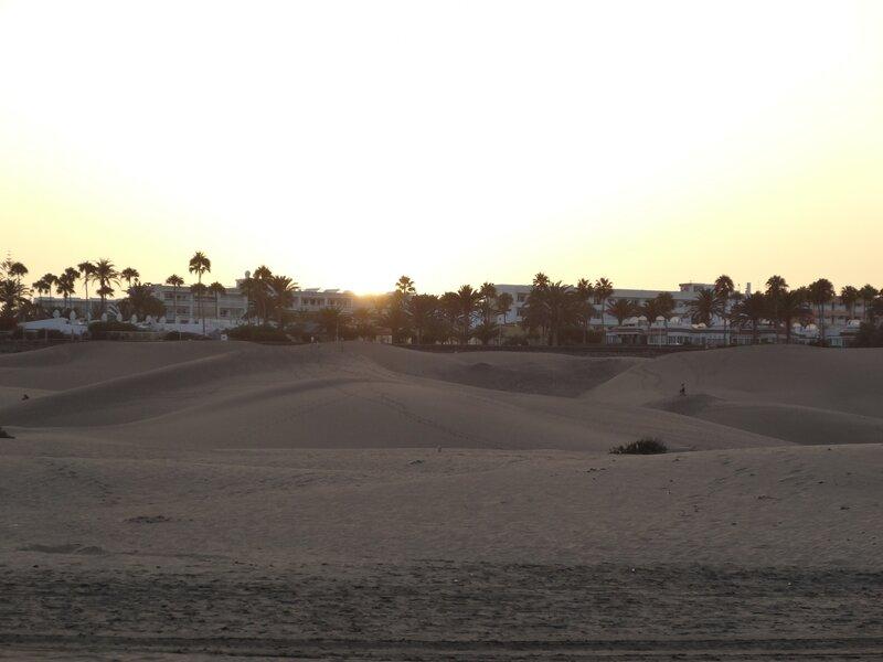 Coucher de soleil sur les dunes de Maspalomas