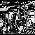 Linogravures : Trains, métros et bus