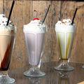 Jus, milk shake...