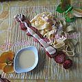 Diots de savoie et sa sauce au fromage