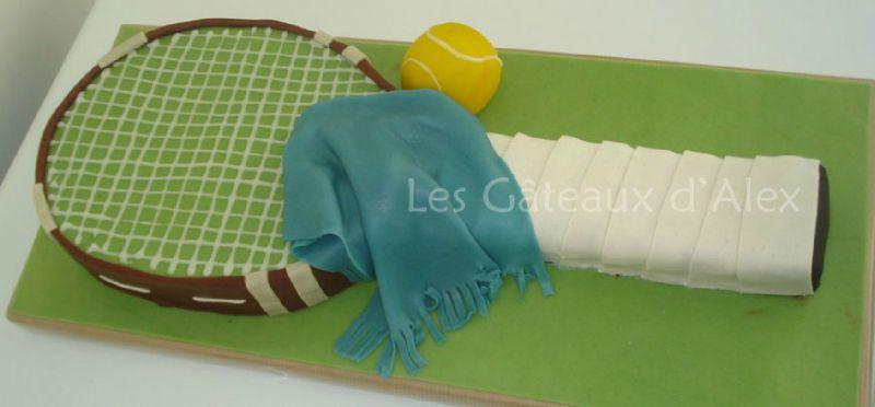 Gâteau raquette de tennis