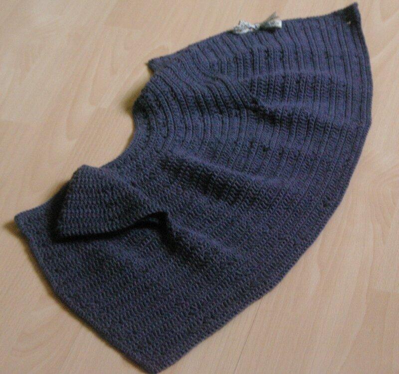 gilet rond au crochet 1