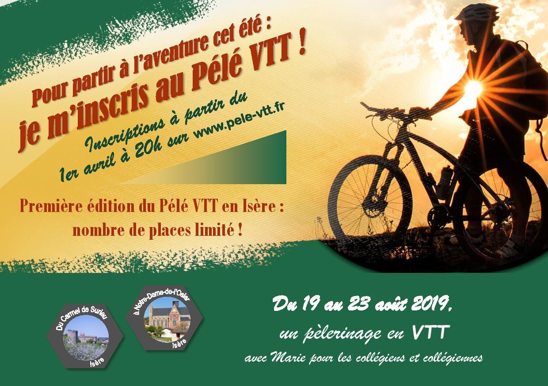 Pélé VTT pour les collégiens au mois d'août en Isère