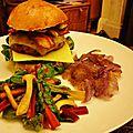 Venison burger - burger de gibier