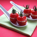 Petite cuillère tomate, tartare et figue