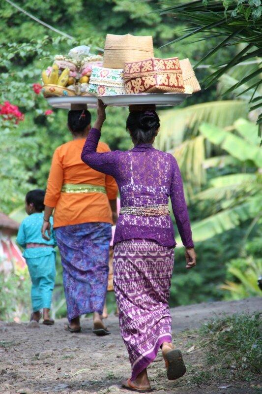 En route pour le temple