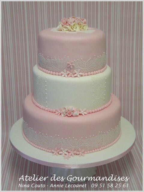 Un Beau Gâteau De Mariage Pour Mimi Atelier Des Gourmandises