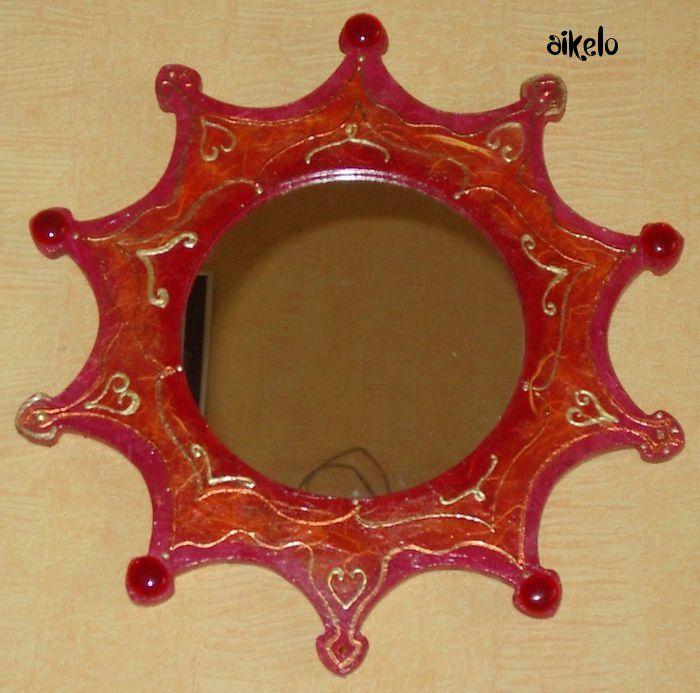 miroir piques rouge_rose_orange