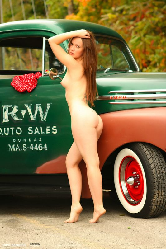 Old trucks and hot nude girls firmly
