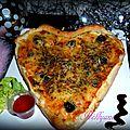 Coeur feuilleté aux poivrons pour st valentin