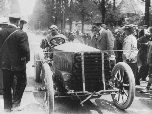 1903 paris-madrid - charles jarrott (de dietrich) 4th, mechanic cecil bianchi 1