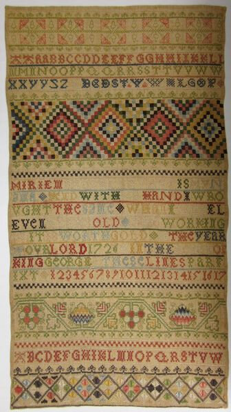 Miriem Brocklehurst 1726 sampler 1 00