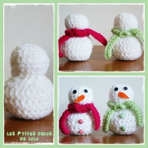 tuto faire un bonhomme de neige au crochet les p 39 tites d cos de lolo. Black Bedroom Furniture Sets. Home Design Ideas