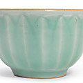 A small Longquan celadon 'Lotus' bowl, Southern Song dynasty (1127-1279)