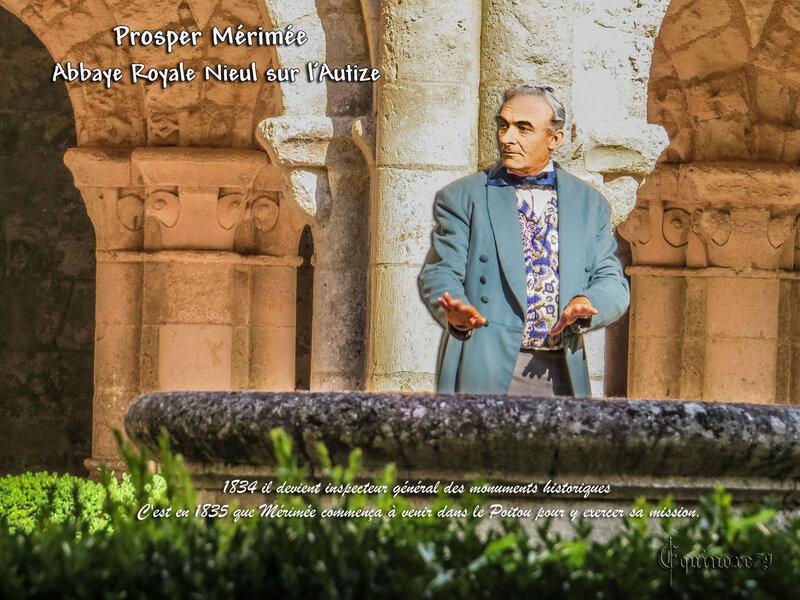 Prosper Mérimée la tournée du Poitou Abbaye de Nieul sur l'Autize