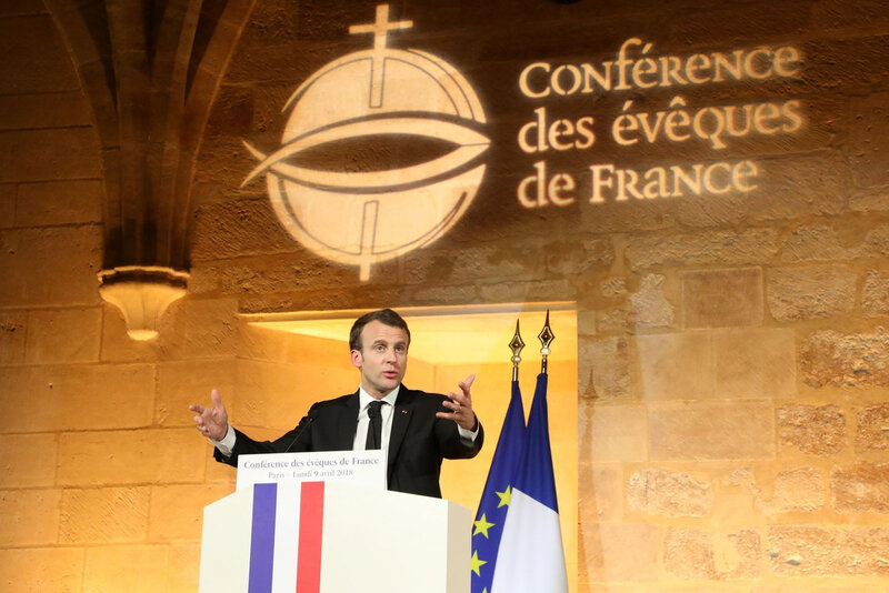 Le-president-Republique-Emmanuel-Macron-devant-eveques-France-college-Bernardins-Paris-9-avril-2018_0_1399_933