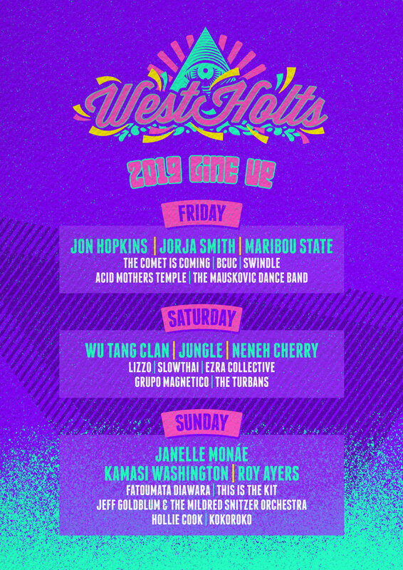 Glastonbury_festival_2019_West Holts_West Holts stage_line-up_programmation_poster_affiche
