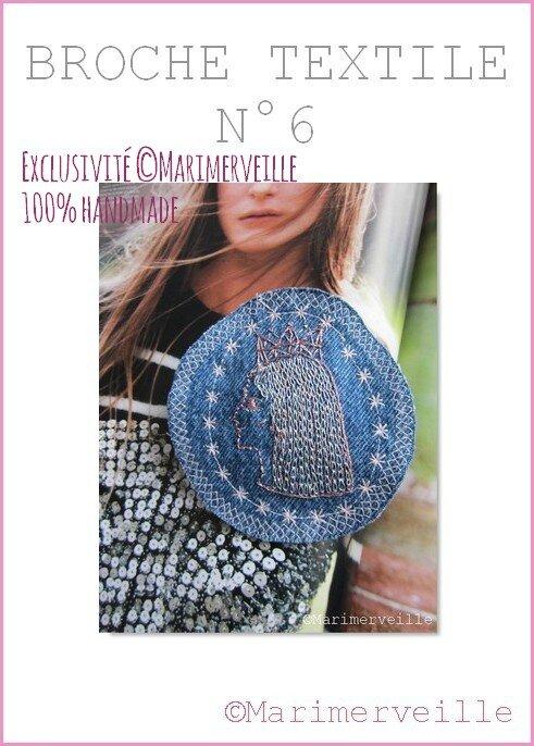 Broche textile 6 Marimerveille