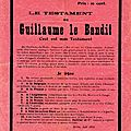Le testament de guillaume
