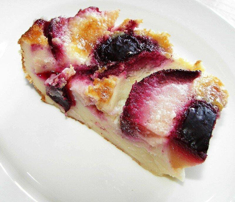 Cuajada au yaourt et prunes