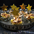 Verrines de foie gras aux poires caramélisées