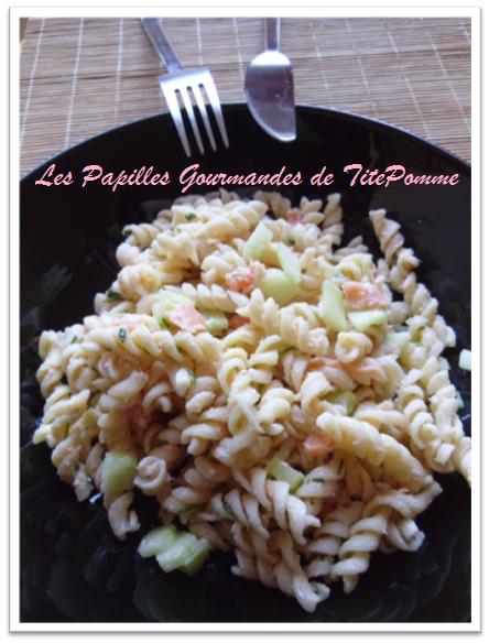 Salade de pâte saumon et concombre-1